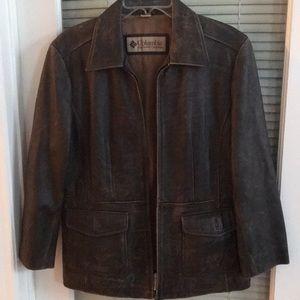 Columbia Sportswear Corp. Ladies Leather Jacket L